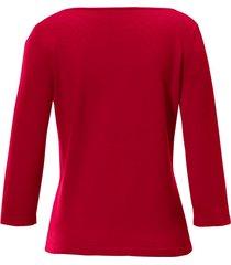 trui van 100% kasjmier model bonny van peter hahn cashmere rood