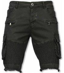 slim fit biker pocket jeans