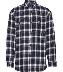 markussen overhemd casual blauw minimum