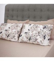 conjunto de lençol casal pertutty tecnologia antipilling