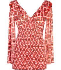 geometric sleeveless top