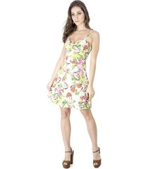 vestido evasê floral alphorria a.cult