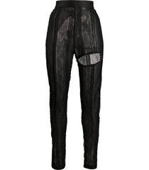 ann demeulemeester ignota lace trousers - black