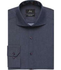 suitor indigo blue slim fit dress shirt