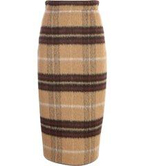 n.21 plaid pencil checked skirt