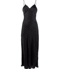 12 storeez polka-dot cami dress - black