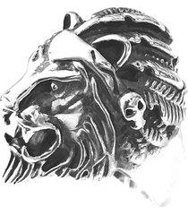 anel prata mil leão de prata (unidade) prata