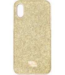 custodia per smartphone con bordi protettivi high, iphoneâ® x/xs, tono dorato