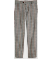 scotch & soda fave - patterned trousers regular tapered fit