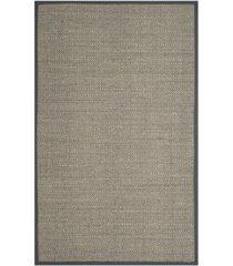 safavieh natural fiber natural and dark gray 4' x 6' sisal weave area rug