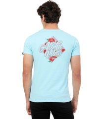 camiseta  azul claro manpotsherd aloha