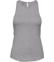 cotton racer tank t-shirts & tops sleeveless grå filippa k soft sport