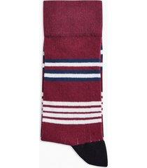 mens multi red, white and blue stripe socks