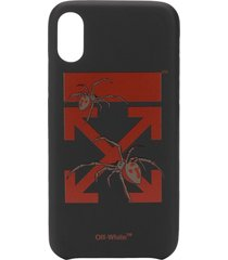off-white arrows print iphone xs case - black