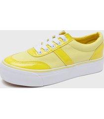 zapatilla urbana amarillo skaters