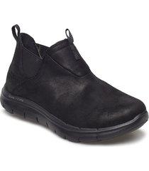 womens flex appeal 2.0 - d deal - waterproof shoes boots ankle boots svart skechers