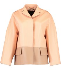 two tone leather jacket