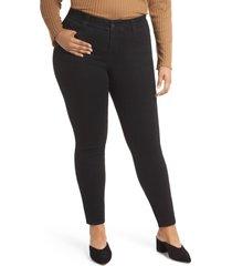 jag jeans cecilia stretch skinny jeans, size 22w in black at nordstrom