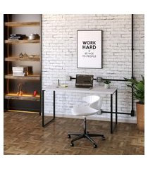 mesa de escritório kuadra branca 135 cm