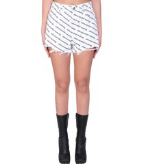 alexander wang shorts in white denim