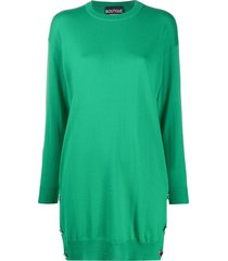 boutique moschino mini jumper dress - green