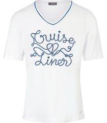 shirt met v-hals en korte mouwen van basler wit
