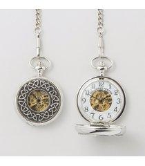 celtic trinity mechanical pocket watch