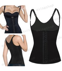 waist trainer cincher underbust corset body shaper shapewear vest training #1