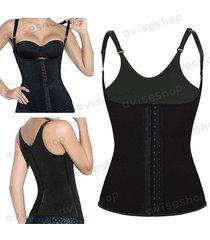 waist trainer cincher underbust corset body shaper shapewear vest training #1