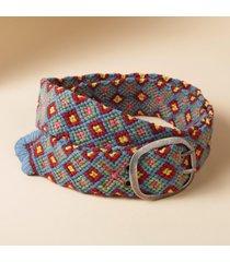 women's knotted foulard wool belt