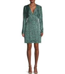 equipment women's rommily printed empire-waist dress - jade - size 0