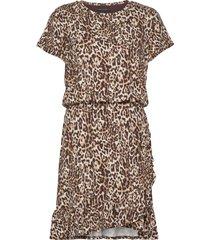 flounce-hem t-shirt dress korte jurk bruin banana republic