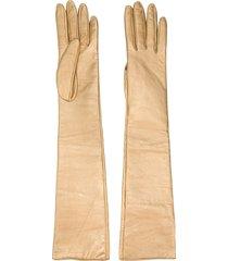 manokhi long gloves - gold