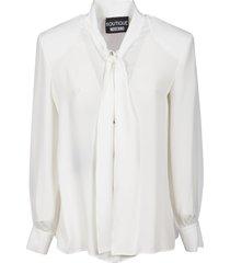 moschino tie-neck classic blouse
