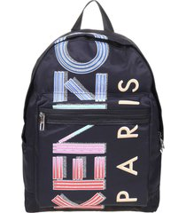 kenzo backpack in nylon with black logo