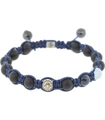 blue sapphire onyx bead bracelet