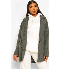 tall nepwollen jas, charcoal