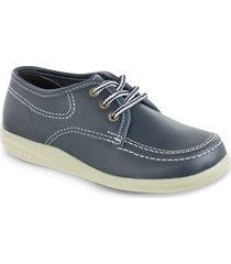 zapatos colegial bachiller azul unisex croydon