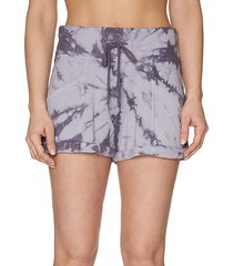 tie-dyed cotton-blend shorts