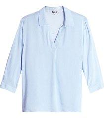 camisa rayas verticales mujer color azul, talla l
