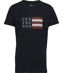 simon tee t-shirts short-sleeved svart lexington clothing