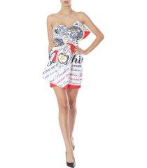 moschino bustier dress