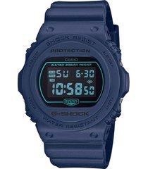 reloj g shock dw-5700bbm-2dr azul resina