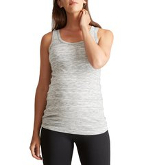 women's ingrid & isabel scoop neck maternity tank, size small - grey