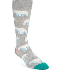 men's fun socks bear socks