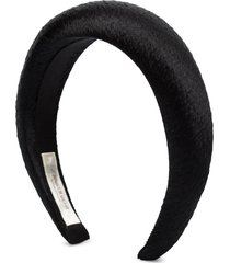 jennifer behr thada hammered silk headband - black
