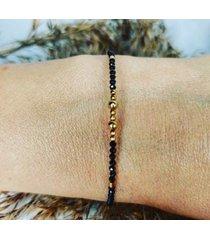 minimalistyczna bransoletka z pięknych spineli