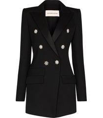 alexandre vauthier crystal buttoned double-breasted blazer - 0193-1106