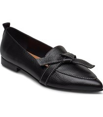 ally black grained leather loafers låga skor svart flattered