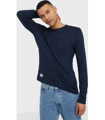 only & sons onscost 12 pocket crew neck knit tröjor mörk blå